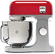 Kenwood 凯伍德 kMix 厨师机 KMX750RD,5升不锈钢搅拌碗,Safe-Use安全系统,金属外壳,1000瓦,含法式糕点3件套及防溅外罩,红色