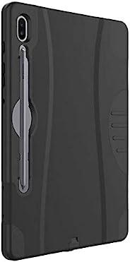 三星 Galaxy Tab S6 堅固手機殼 - 適用于 Galaxy Tab S6 的重型防震保護套 - 黑色