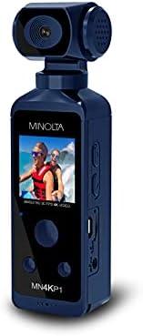 Minolta 美能达 4K 超高清 Wi-Fi 启用便携式便携式摄像机