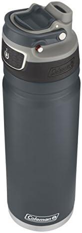 Coleman FreeFlow AUTOSEAL 绝缘不锈钢水瓶,板岩,24 盎司(约709.68 毫升)