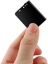 世界*薄的语音激活录音机,带回放和 USB 充电器 - 16GB 迷你录音机,带 192 小时的录音时间,用于采访、教室、会议、个人笔记等。