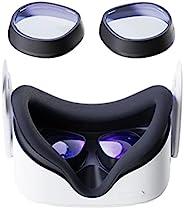 VirtuGlasses 镜头插入适用于 Oculus Quest 2,Amavasion VR 近视眼镜适用于 Oculus Quest 2,定制易于安装的框架加上近视镜片组合(1 对)((-5.00)