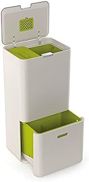 Joseph Joseph 30001 智能图腾厨房垃圾桶回收箱,带堆肥箱,16加仑/ 60升,石墨