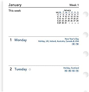 Filofax Pocket 2021 日程表,1周两页,英语。