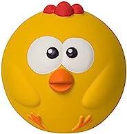 Outward Hound Sillyz 小鸡乳胶橡胶发声球狗狗抓取玩具,黄色