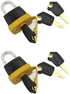 2 套新款挂锁垫锁 w/6 个钥匙适用于 Caterpillar (CAT) 燃油盖 5P8500 246-2641
