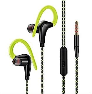 有线耳机 降噪 入耳式跑步耳机 带耳钩 适用于健身房、运动、锻炼(*)