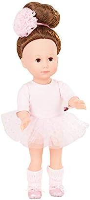 Gotz 1613025 Just Like Me Giuseppina 娃娃 - 27 cm 站立娃娃,长棕发和棕色睡眼 - 适合年龄群 3 岁以上