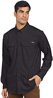 Columbia 哥伦比亚 男式 Silver Ridge Lite长袖衬衫, Black, XX-Large