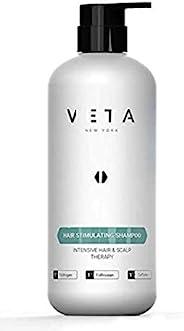 Veta - 发质刺激洗发水 - 快速作用**,适合男士和女士使用 - **剂 - 恢复*生长周期- 1% 三氯生和 1% 叶草 - 27液。 盎司