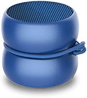 超紧凑的迷你蓝牙扬声器 - Xoopar Yoyo扬声器 - 功能强大的3瓦扬声器 - Nomadic扬声器,4小时自动机功能 - 扬声器3厘米(蓝色,单声道)