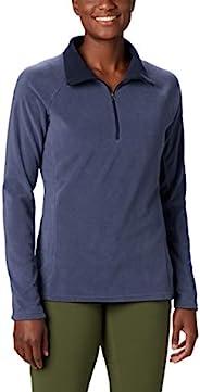 Columbia 女士 Glacial IV 印花 1/2 拉鏈套頭衫,經典款