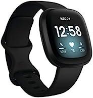 Fitbit Versa3 搭载Alexa/GPS 智能手表 Black 黑色 L/S 尺寸 [日本正品]
