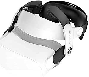 BOBOVR M2 - Oculus Quest 2 头带,VR 配件,替换 Elite 肩带,减少面部压力,触感舒适