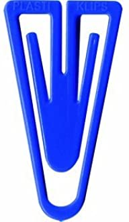 Laurel 回形针塑料夹,PS,35毫米,口袋,蓝色