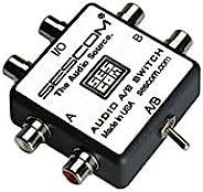 Sescom SES-AUDIO-AB RCA 立体声音频 MP3 FLAC WMA A/B 开关