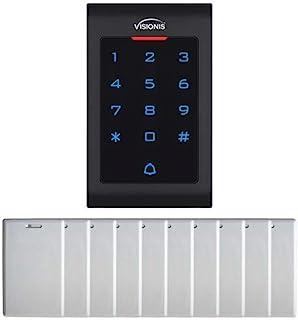 Visionis FPC-5670 访问控制室内数字触摸键盘读卡器 RFID EM MFR 独立 125KHz 和 Wiegand 2000 名用户带门铃和 10 张距离卡