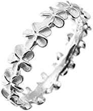 Aloha Jewelry Company 标准纯银鸡蛋永恒婚戒可叠放戒指