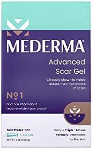Mederma 高级*痕凝胶 1 x 每日减少老旧*痕 #1 **师推荐品牌 适用于*痕 1.7 盎司(约 49.9 克)透明,50 盎司(约 1.4 克)