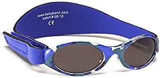 baby banz 儿童防紫外线太阳镜探索系列 迷彩蓝0-2岁