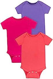 Lamaze *女婴短袖棉质连体衣,按扣封口 橙色/红色/紫色 24 Months