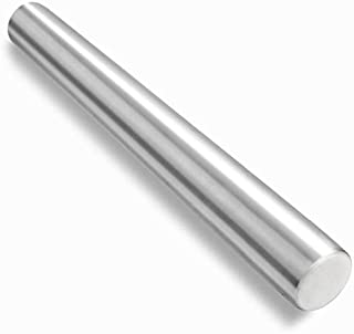Checkered Chef 不锈钢法式擀面杖,金属擀面杖,适用于烘焙、意大利面、翻糖、饼干、披萨和面团。可用洗碗机清洗。