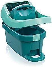 Leifheit 55076 Profi XL 刮水器,带轮子和脚踏控制,地板刮水器清洁,无需弯腰,8 升水桶,带压力机附件,用于刮水器