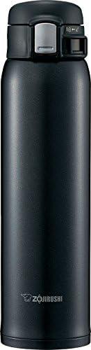 ZOJIRUSHI 象印  不锈钢水杯 直饮 轻巧 保冷保温杯 一键式开启  600ml 丝滑黑 SM-SD60-BC
