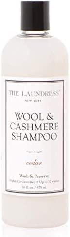 THE LAUNDRESS New York - 羊毛、羊绒洗涤剂 温和 增香除异味 雪松香味 可洗涤32次,16 液盎司( 475 毫升)