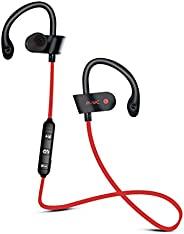 Occiam 无线蓝牙耳机运动耳机耳塞耳钩防水立体声带麦克风 120 小时待机时间适合跑步健身房锻炼锻炼慢跑