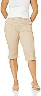 LEE 女式加大码弹性运动常规款实用七分裤