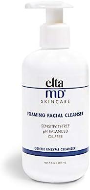 EltaMD 泡沫洁面乳,适合瑕疵皮肤,轻柔,无油,无敏感性,专业人士推荐的酶和氨基酸洗面奶,可以卸妆,7盎司,207毫升