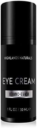 Highlands Naturals 优质男士眼霜   减少黑眼圈、浮肿、眼袋下袋、皱纹和细纹  日常防御和高级皮肤护理  天然*  1 盎司