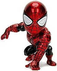 Jada Toys 253221003 Marvel Superior 蜘蛛侠模型,压铸,10厘米,红色/蓝色金属