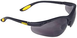 DEWALT REINFORCER Rx-Bifocal Smoke Lens High Performance Protective Safety Glasses With Rubber Temples & Microfiber Carryi...
