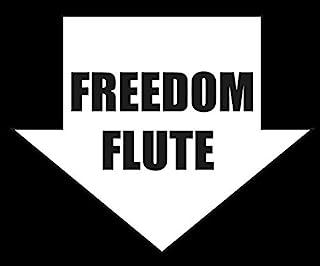 Freedom Flute- 12.7 cm 贴花 {WHITE} - 驱蚊贴纸、滚煤炭贴纸、滚煤炭、黑烟事项贴纸、贴花、电击、冲压器、灰尘、柴油、堆积、贴花、乙烯基管