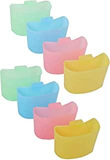 一套 8 个悬挂在杯子上的茶包支架! - 让您的餐桌保持干净,让您的茶包关闭! - 直接悬挂在杯子的侧面! (8)