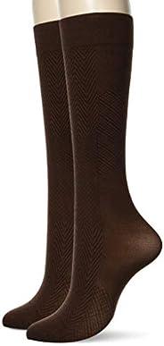 GUNZE 郡是 袜子 Tuche 运动鞋 3WAY 方块花纹 同色2双装 女式