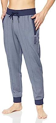 HUGO BOSS 男式珠地布带金属色运动裤