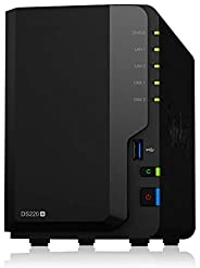Synology 群晖 2 Bay NAS DiskStation DS220+(无盘),2-Bay;2GB DDR4