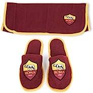 A.S. ROMA 旅行毛巾 + 拖鞋套装,* 超细纤维,均码