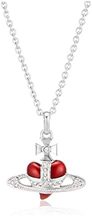 Vivienne Westwood Diamante Heart 心形闪耀项链 黄铜 红色 63020226/W197