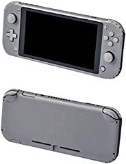 冒险游戏 - 银色,拉丝铝 - 乙烯基控制台皮肤贴花贴纸套装 - 兼容 Nintendo SWITCH LITE