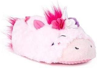小女孩粉色独角兽毛绒头拖鞋卧室鞋鬃毛尾巴角