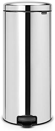 巴西亚 灰尘盒 踏板 新图标 铬 银色 30L 114366