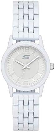Skechers 斯凯奇女式 Rosencrans 迷你石英轻质金属或硅胶休闲运动手表