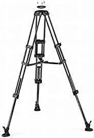 Manfrotto 曼富图 双碳纤维视频三脚架 带中档分散器和 75 毫米/100 毫米视频头 MVTTWINMC