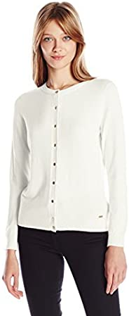 Calvin Klein Women's Solid Button-Front Card
