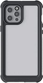Ghostek 航海防水设计适用于 iPhone 12 Pro Max 保护套,带屏幕保护膜,坚固耐用保护全身防水保护盖,适用于 2020 iPhone 12 Pro Max 5G(6.7 英寸)(透明)