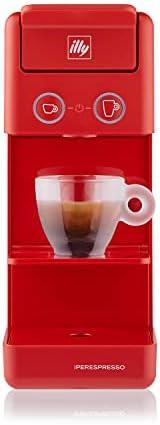 illy 意利 Iperespresso Y3.3 胶囊咖啡机,红色